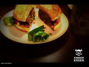 Frischer, saftiger Hamburger