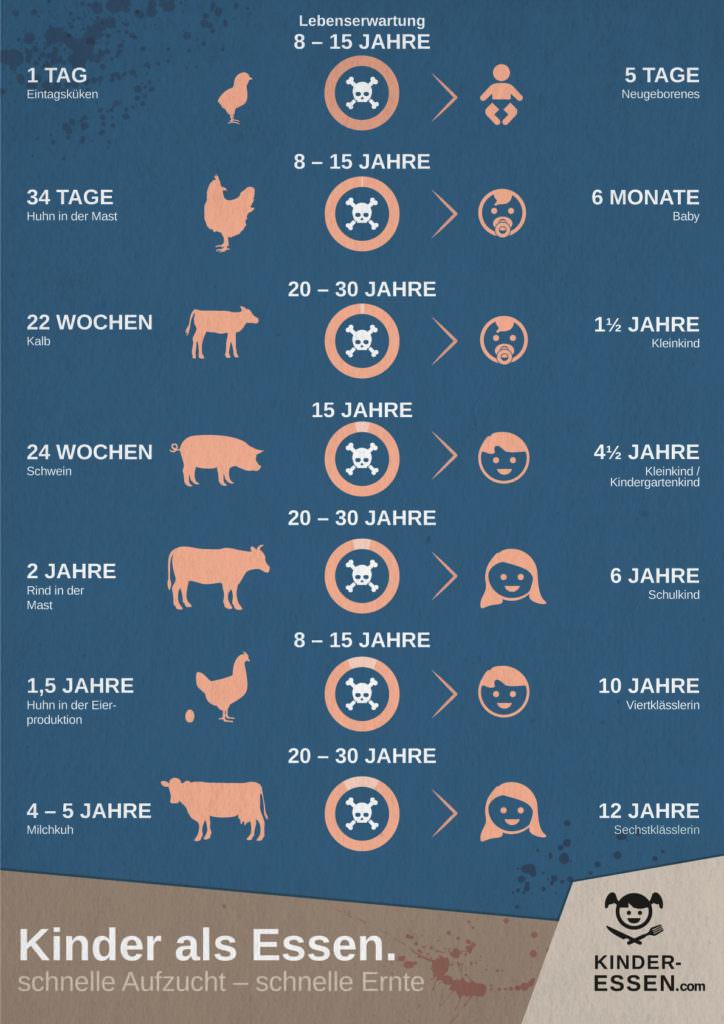 Infografik: Schlachtalter - Tiere sind kinder
